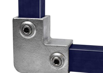 Vierkant, Eckstück 90°, rechtwinklige - 40 mm