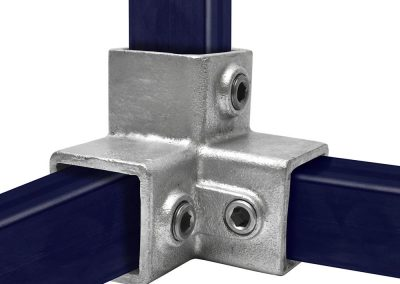 Vierkant, Dreiweg-Eckstück - 90° - 40 mm