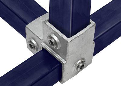 Vierkant, Eckstück durchlaufender Ständer - 40 mm