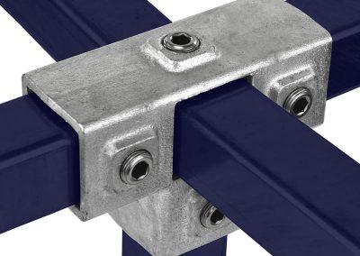 Vierkant, T-Stück für Stützrohr - 40 mm