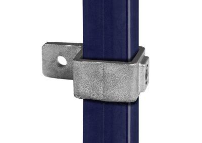vierkant, Rohrverbinder für Plattenbefestigung - 40 mm